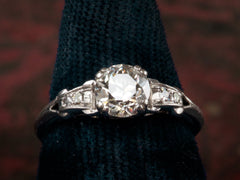 1930s Art Deco 0.92ct European Cut Diamond Engagement Ring