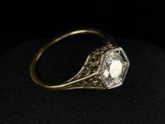 c1930 Deco 0.94ct Filigree Ring
