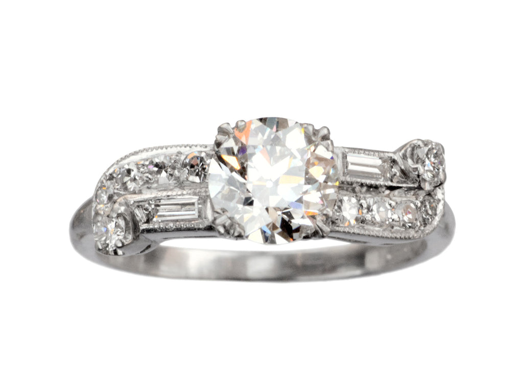 1930s Art Deco 0.94ct Ring