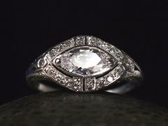 1920s 0.96ct Marquise Ring