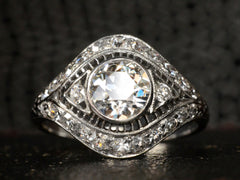 1920s Art Deco 1.00ct Filigree Ring