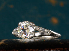 1930s Art Deco 1.12ct European Cut Diamond Engagement Ring
