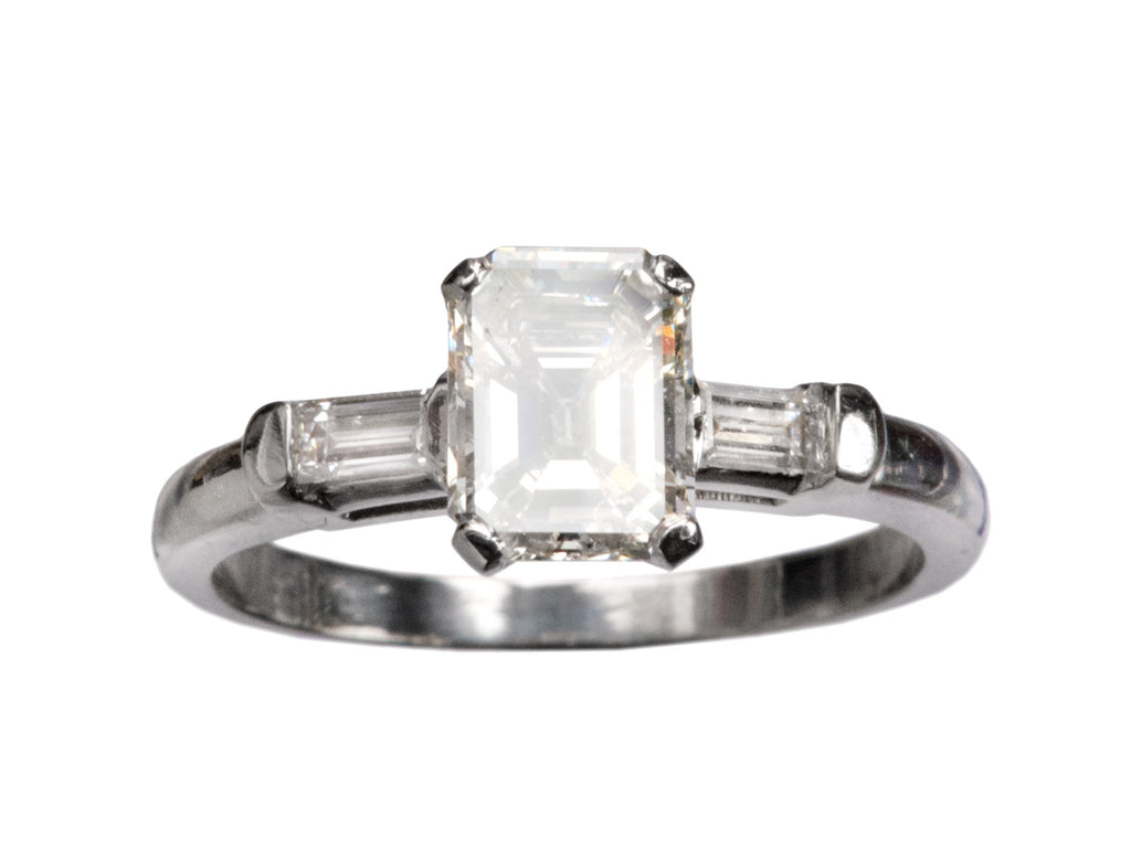 1940s Emerald Cut Diamond RIng
