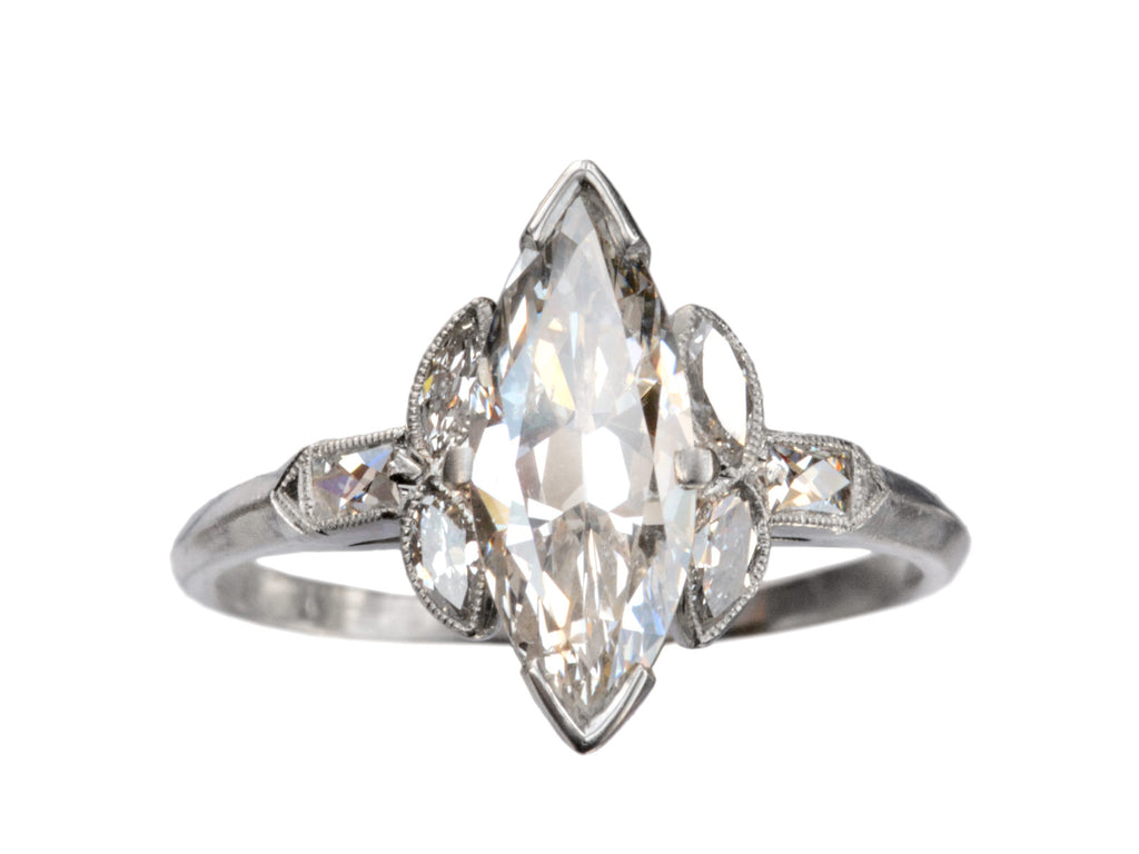1920s Art Deco Marquise Diamond Ring
