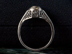 1920 Art Deco 1.15ct Filigree Engagement Ring