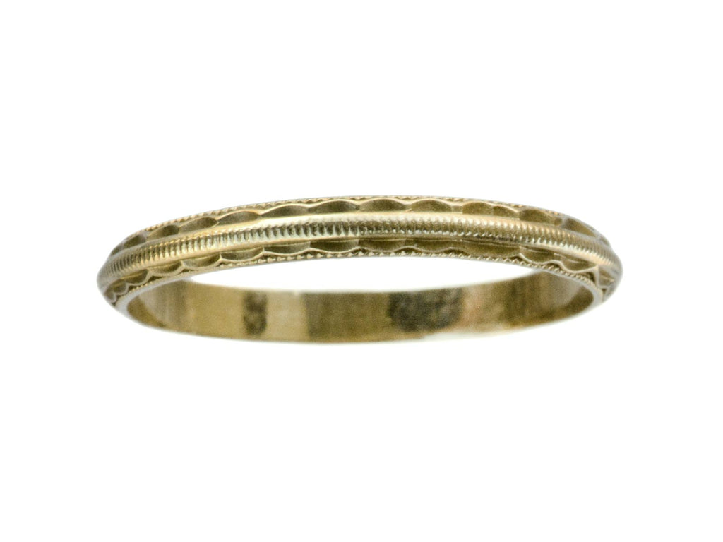1940s Decorated 14K Band