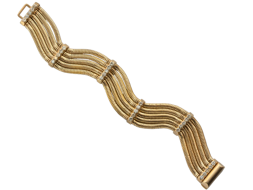 1940s Diamond & Gold Bracelet