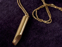 1950s Gold Whistle Necklace