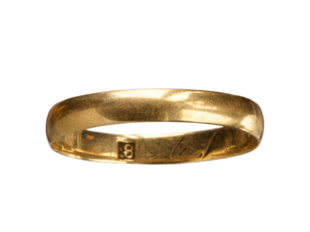 1861 18K Gold Wedding Band