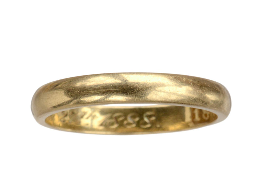 1888 2.9mm Gold Wedding Band
