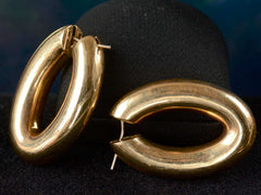 Vintage Tubular 14K Hoop Earrings
