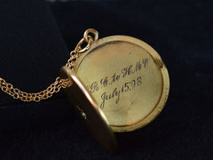 1908 Gold & Diamond Locket