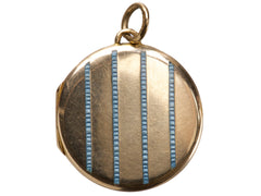 1912 Enamel Striped Locket