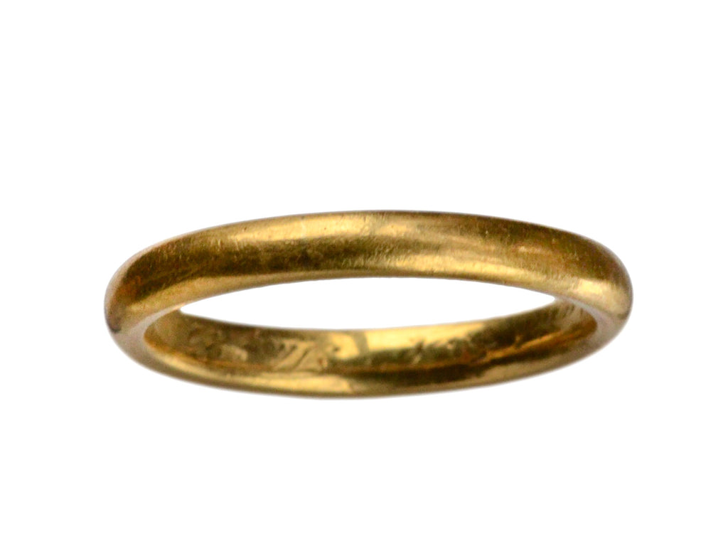 1916 22K Wedding Band