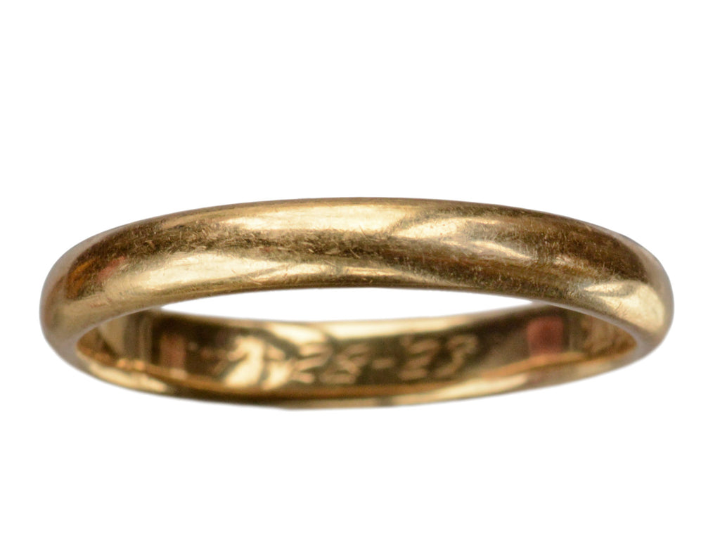 1923 18K Wedding Band