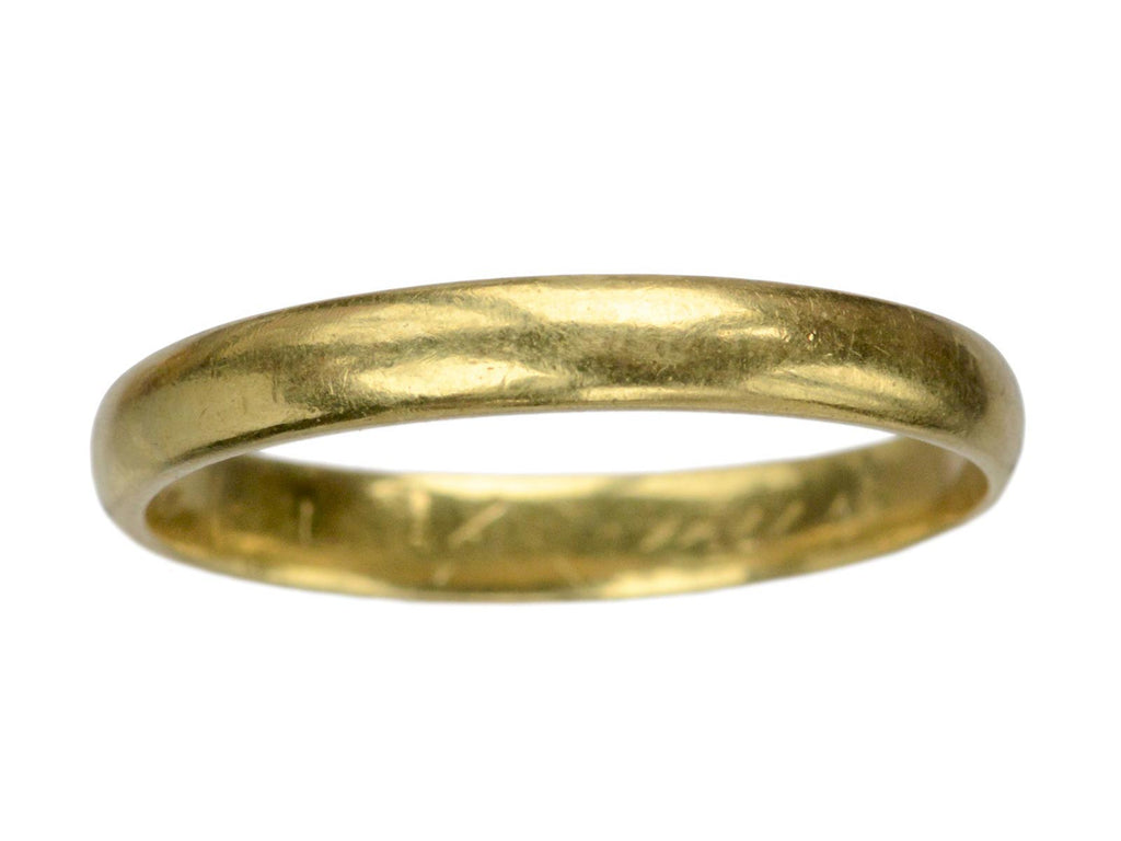 1930 3.2mm 18K Gold Band