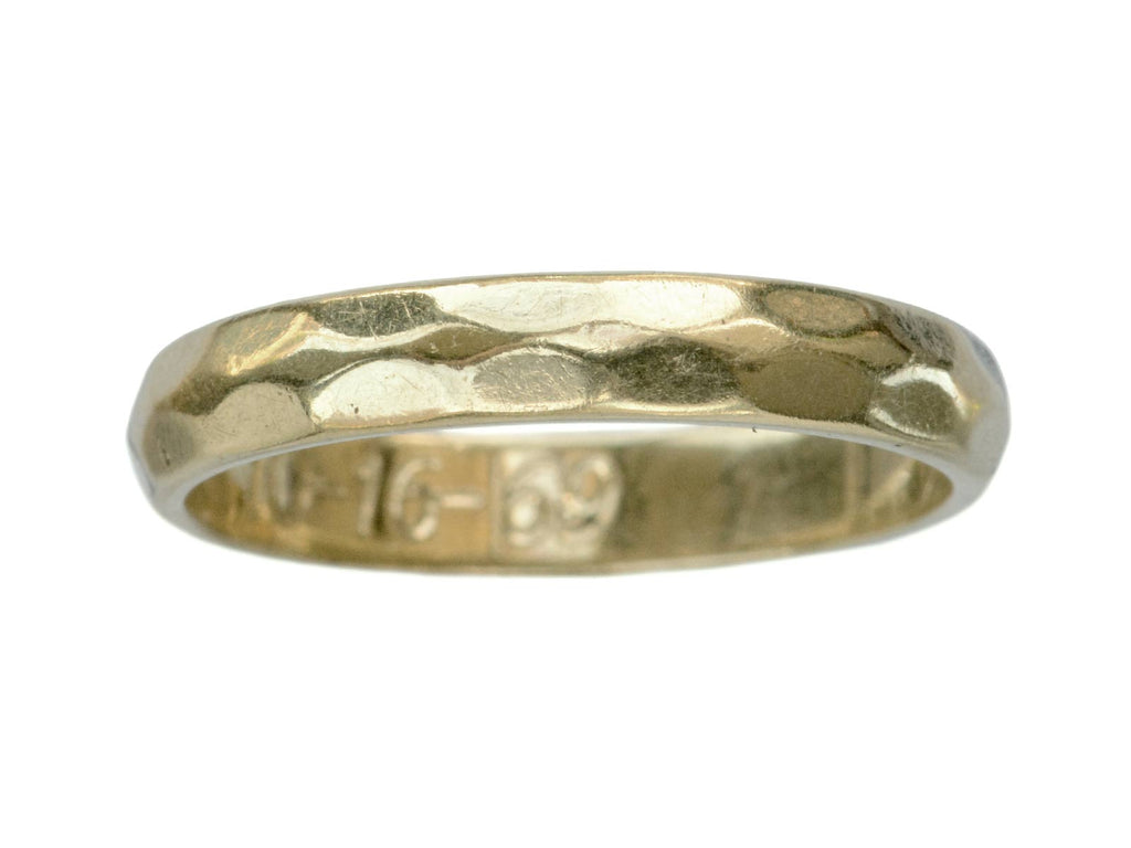 1969 Faceted Gold Band