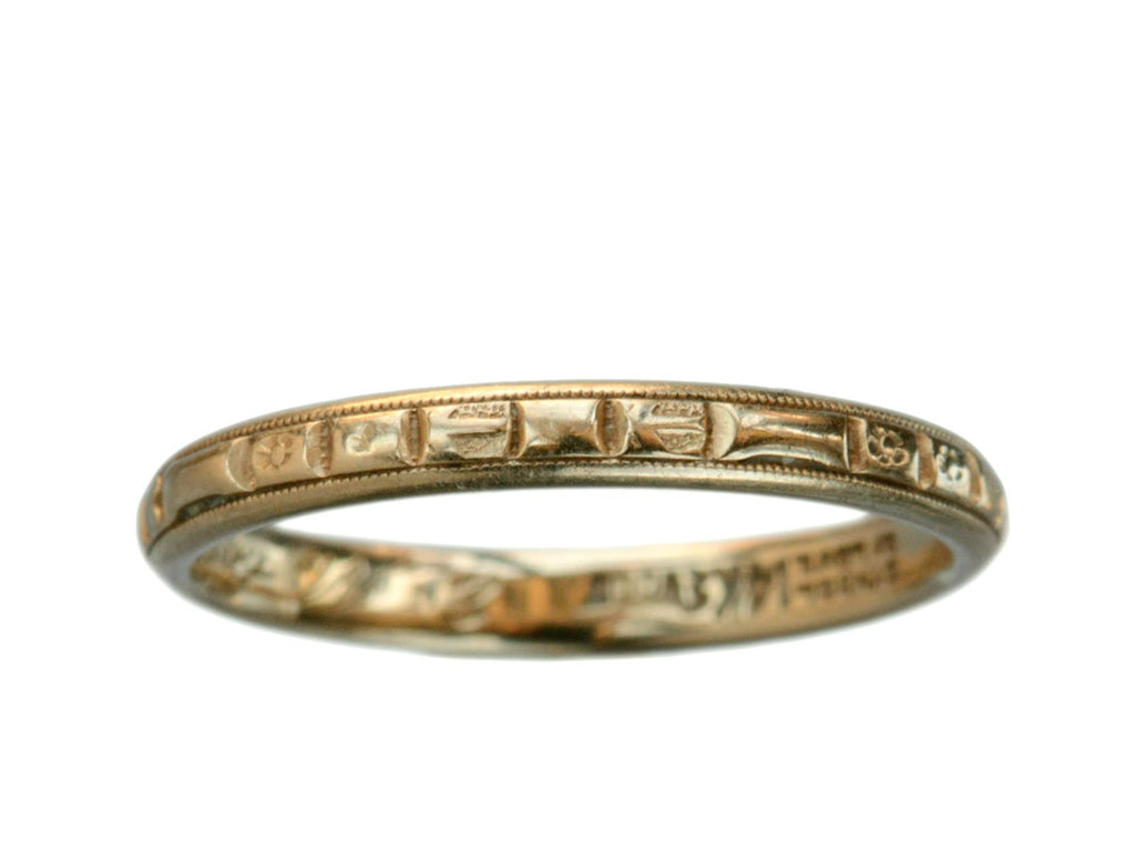1941 J.R. Wood 14K Gold Band