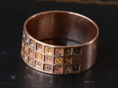 1880s Checkerboard Pattern Victorian Cigar Band