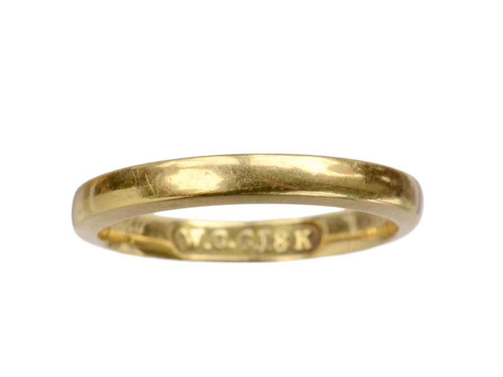 Early 1900s 2.4mm 18K Band