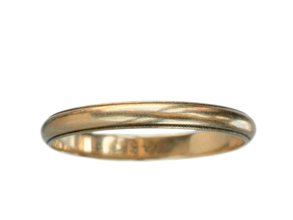 1920-40s Milgrain Wedding Band, 14K