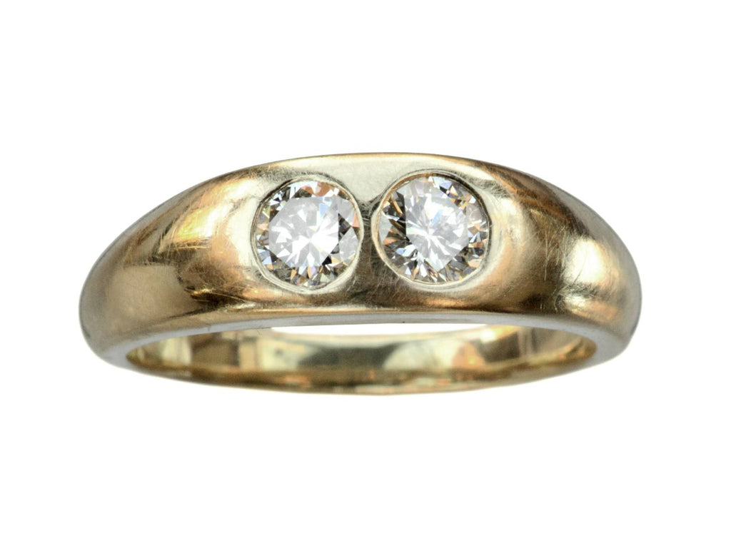 1930s Two Diamond Gypsy Ring