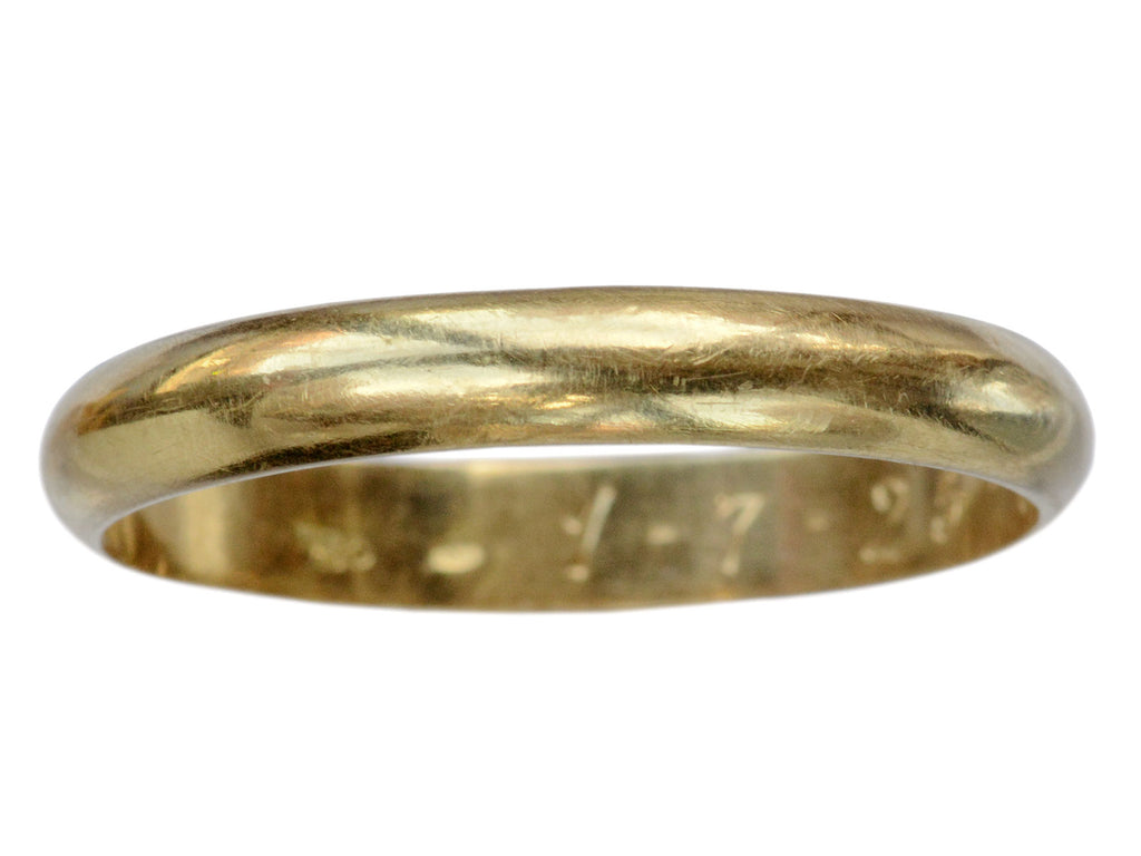 Mid 1900s 3.6mm 18K Band