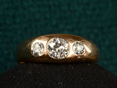 1900s Three Diamond Gypsy Ring
