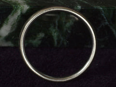 Vintage 4.0mm White Gold Band