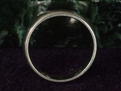Vintage 4.8mm White Gold Band