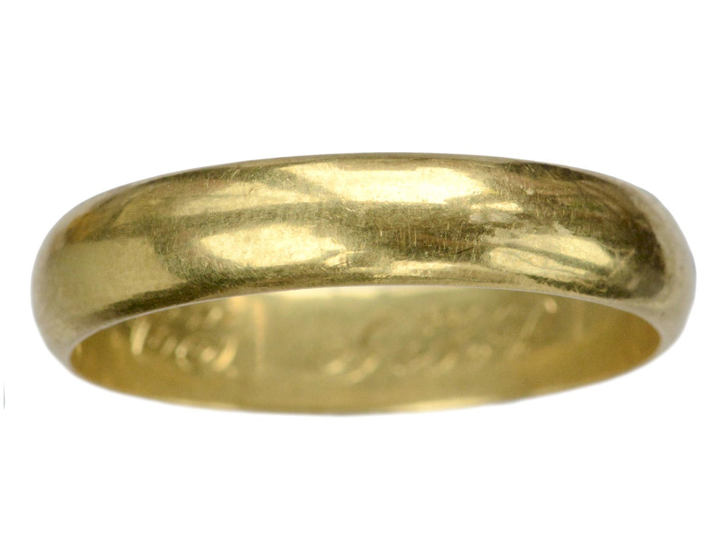 Early 1900s 4.9mm 18K Band