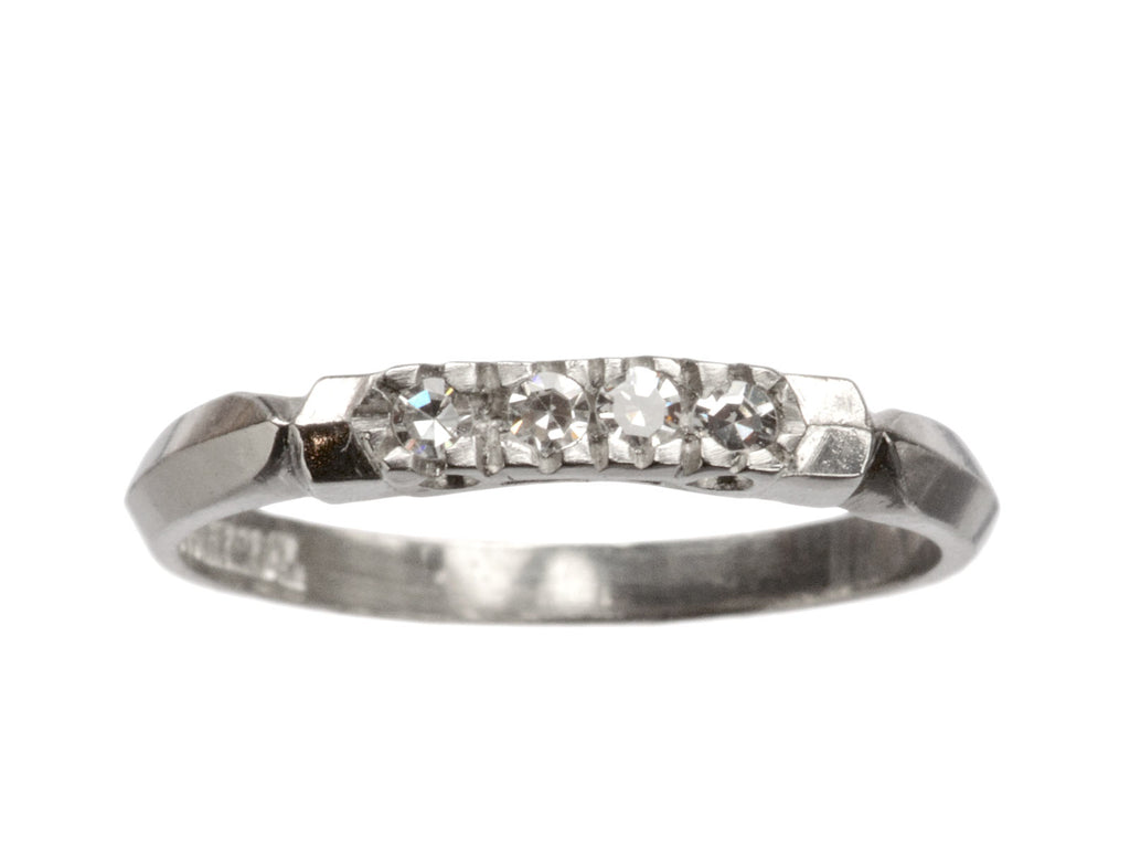 1930s Four Diamond Platinum Band