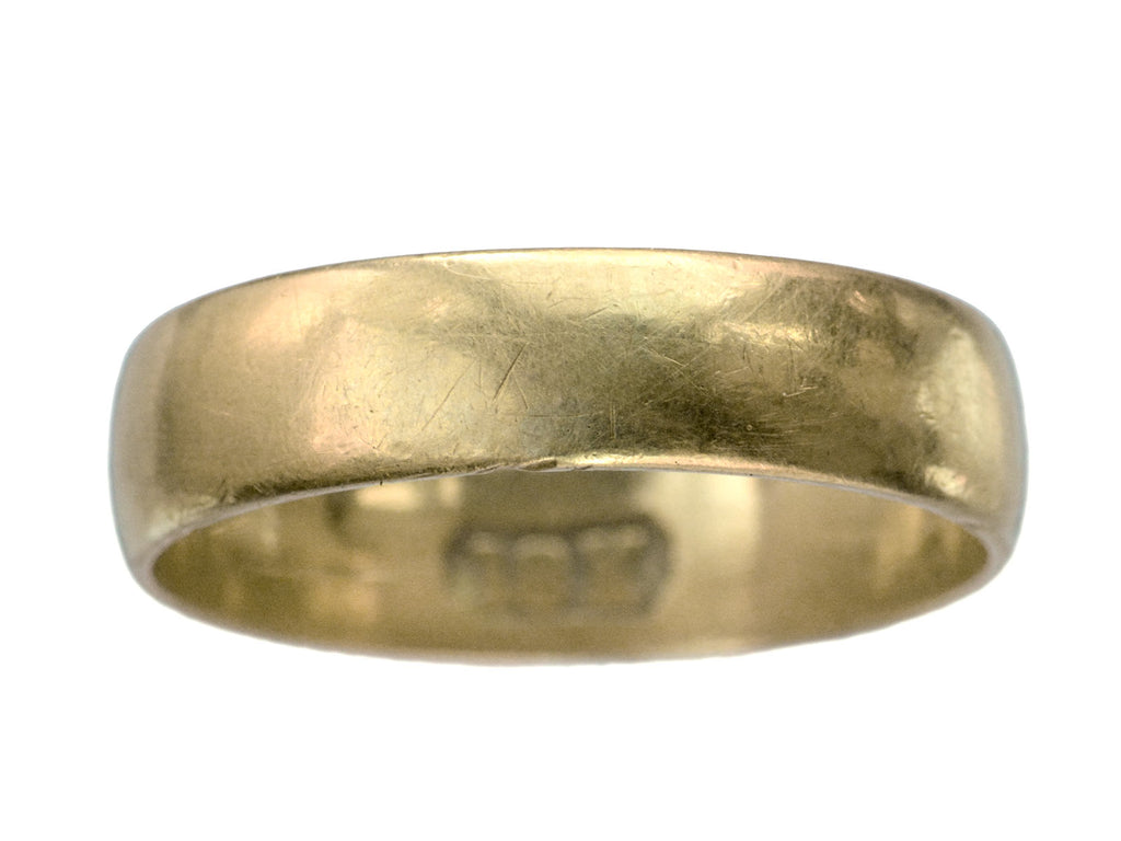 c1890 5.2mm 18K Gold Band