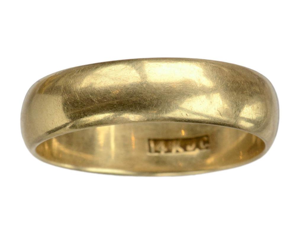 Early 1900s 5.7mm 14K Gold Band