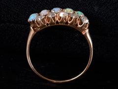 1890s Opal & Diamond Row Ring