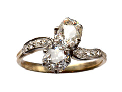 1900s 2 Diamond Ring