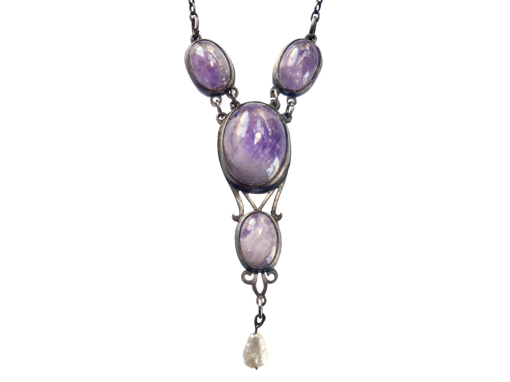 1900s Arts & Crafts Amethyst Necklace