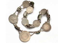1890s Scarabs & Coin Necklace