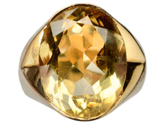 1930s French Citrine Ring