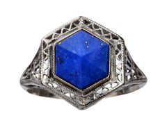 EB Lapis Hexagon Ring