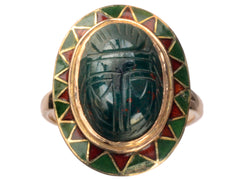 1920s Bloodstone Scarab Ring