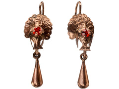 1890s Victorian Turkey Earrings
