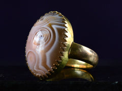 1900s Chinese Agate Ring