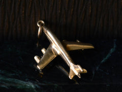 c1960 Gold Airplane Charm