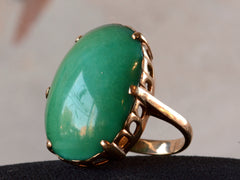 1950s Large Turquoise Ring