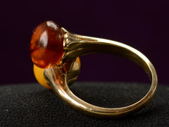1940s Amber Bypass Ring