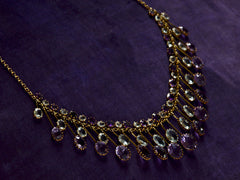 1900s Edwardian Amethyst & Aqua Necklace