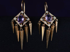 1880s Victorian Amethyst Earrings