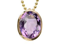 1890s Amethyst Pendant Necklace
