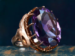 1940s Large Amethyst Ring